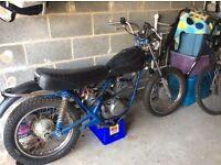 Harley Davidson SS250/175 barn find cafe racer project
