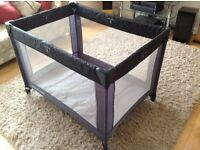 Mothercare Travel Cot with mattress and storage bag