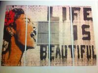 Banksy - Life is Beautiful Art Poster /Wallpaper print (4 part)