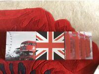 3 red canvas prints 20cm x 20cm