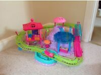 Poly pocket roller coaster and slide set