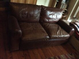 lether sofa large two seater