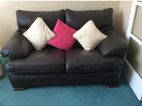 2 seater leather sofa, 1 seater leather recliner