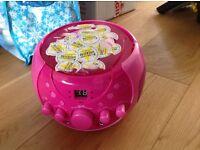 Pink CD player / Karaoke machine