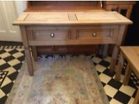 Hallway Console Table in Natural Wood £40