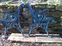 lion head bench ends