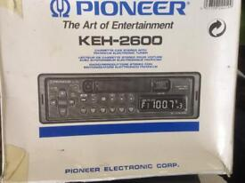 Pioneer KEH 2600 Radio Cassette with Box and speakers