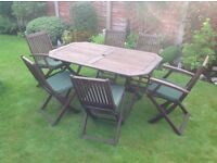 Dark Wood table & 4 Chairs