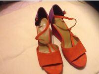 Ladies wedge sandals size 6 1/2