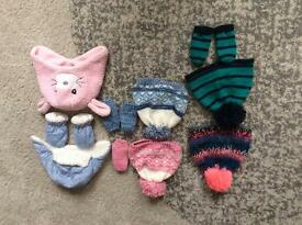 Next hats, nut meg hats and George hats girls & boys 6-12m