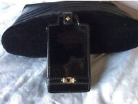 LINKS OF LONDON PATENT LEATHER BLACK IPHONE 4/4S CASE