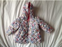 Baby girl jacket 3-6 month (m&s) , hardly worn