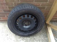 Spare Wheel with 205.55.16 Tyre ( looks new )