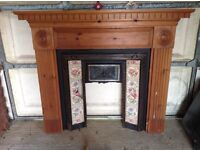 Complete fireplace surround