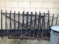 Large cast iron vintage railings