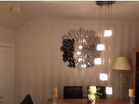 Beautiful glass cube ceiling light