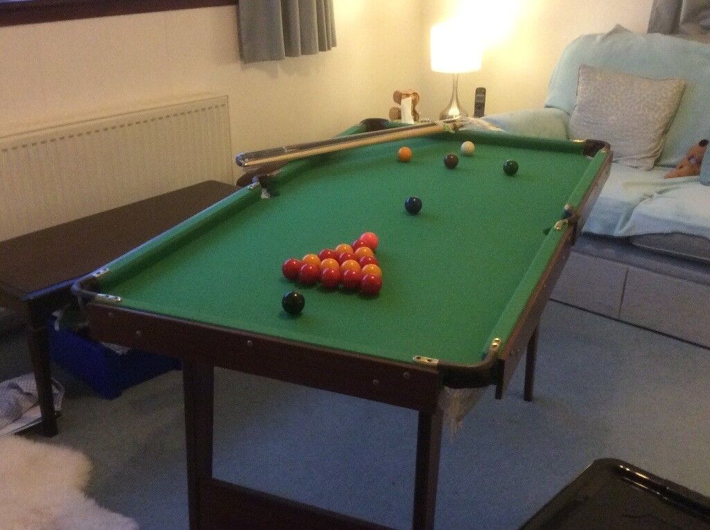 Snooker pool table can be folded for storage in linlithgow snooker pool table can be folded for storage greentooth Gallery