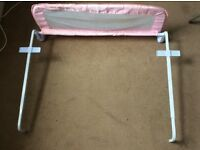 Bed guard pink only one
