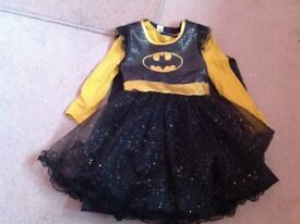 Girls bat woman costume with Cape size 5-6 worn once