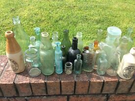 Collection of old bottles