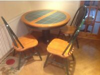 Kitchen or Dining Room table with 3 chairs