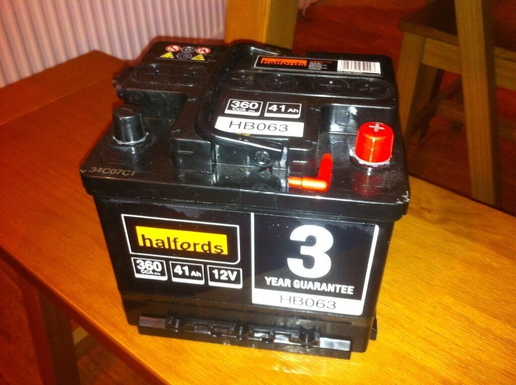 Halfords Car Battery Hb