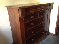 Antique large Mahogany Chest of Drawers