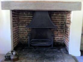 Large Inglenook Fireplace