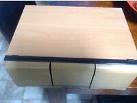 Cd storage drawer unit in beech/light oak