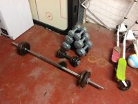 Weights & dumbells forsale
