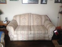2 x Two Seater Sofas, fabric in very good condition and very comfortable