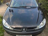 Peugeot 206 fever 1.1 fever 17 inch alloys,kenwood ipod stereo,k n n airfilter, 2 door,black