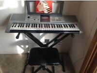 Yamaha Electric Keyboard (with stand and stool)