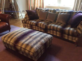 Large Duresta Sofa and Footstool