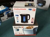 Morphy Richards kettle and Breville toaster