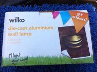 6 x Cast aluminium wall lights NEW BOXED