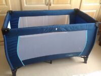 Fold up cot suitable up to the age of 3