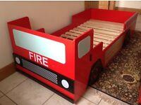 Children's fire engine bed