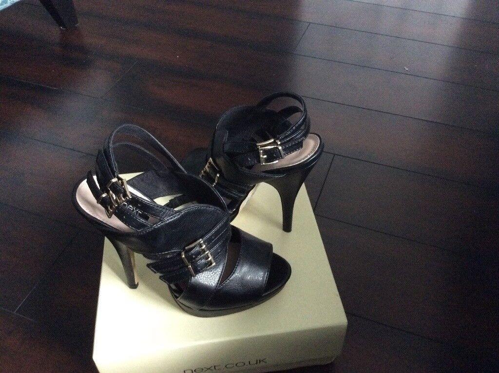 Ladies black high heel shoes