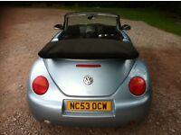 Vw beetle 1.4 convertible 53 reg mot April 2017 low insurance 45+ mpg