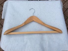 Suit hangers. Quality wooden for men's clothes