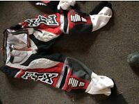 Fox honda motocross top ,bottoms