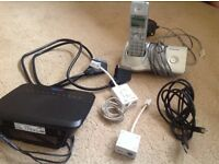 Various - Modem, cables, ASDL filters, Scart lead, aerial, phone etc.