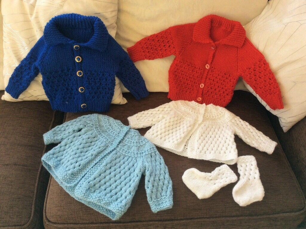 All new hand knitted baby/child's clothes