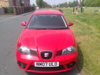 2007 SEAT IBIZA 1.2 70 REFERENCE SPORT MANUAL PETROL 3 DOORS HATCHBACK RED