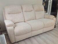 3 Seater Cream Sofa - 4 months old