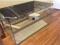 New glass pet tank / cage - ideal for Hamsters, Gerbils, Mice..