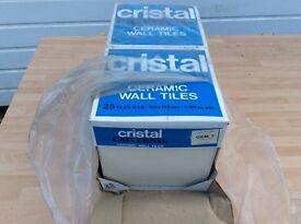 6x6 cream tiles