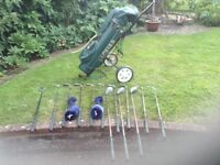 Howson clubs with JagUar bag and trolley.