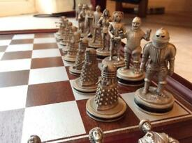 Danbury Mint Dr Who Chess Set